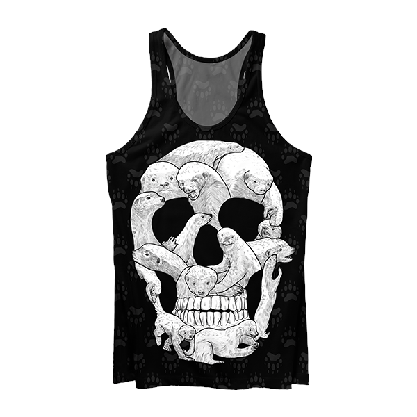 Honey Badger Skull Tank Top