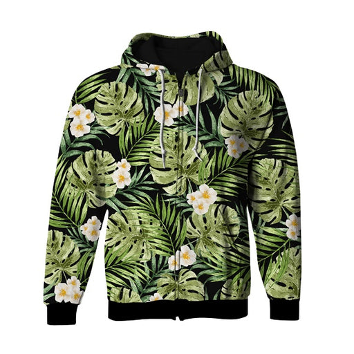 XL Leaf Zip Up Hoodie