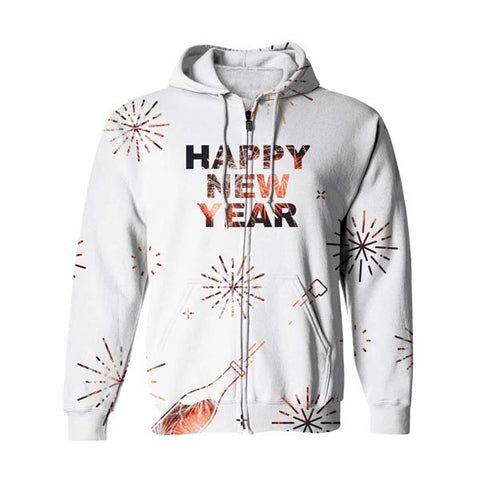Keep Up The Happiness Zip Up Hoodie