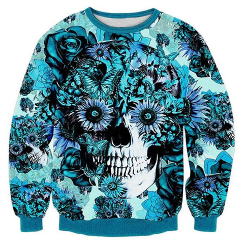 Blue Skull Sweatshirt