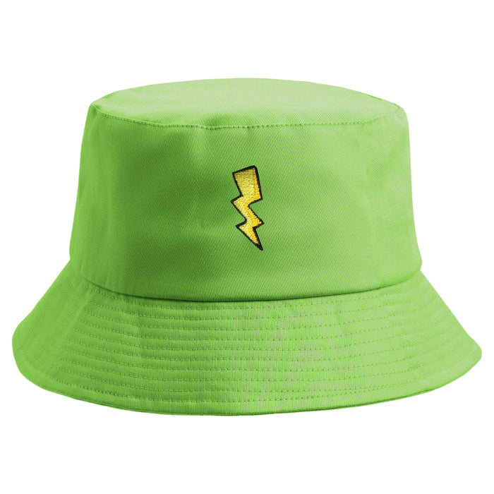 Embroidered Electric Thunder Bucket Hat