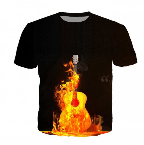 Guitar In Fire Shirt