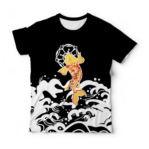 Koi Fish Black T-Shirt