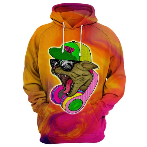 Cool Headphone cat Hoodie