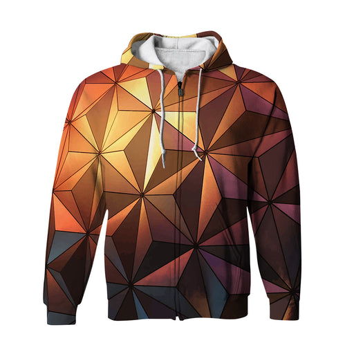 Triangulation Zip Up Hoodie