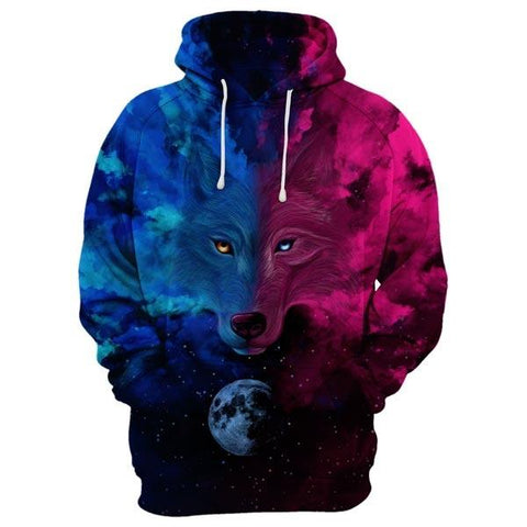 Wolf In The Night Hoodie