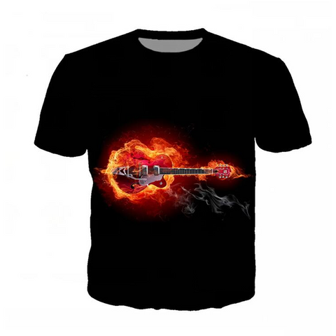 Burning Guitar T-Shirt
