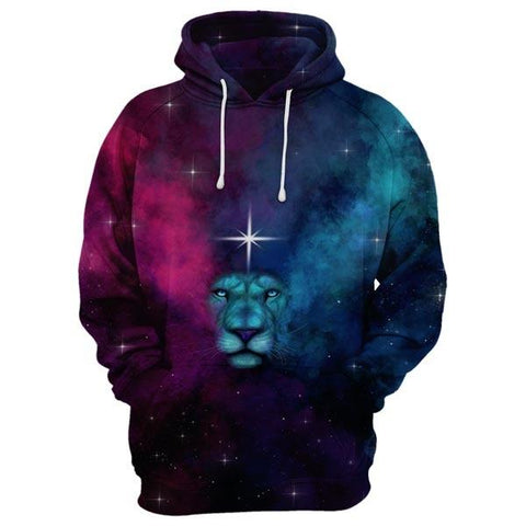 Lion In Galaxy Hoodie
