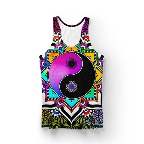 Purple Yin Yang Tank Top