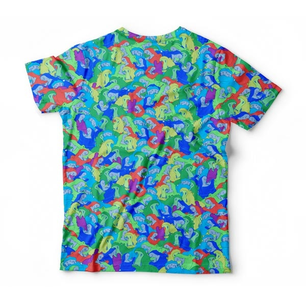 Blue Rainbow Hippo T-Shirt