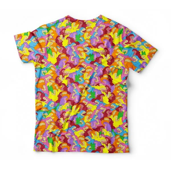 Colorful Rainbow Hippo T-Shirt