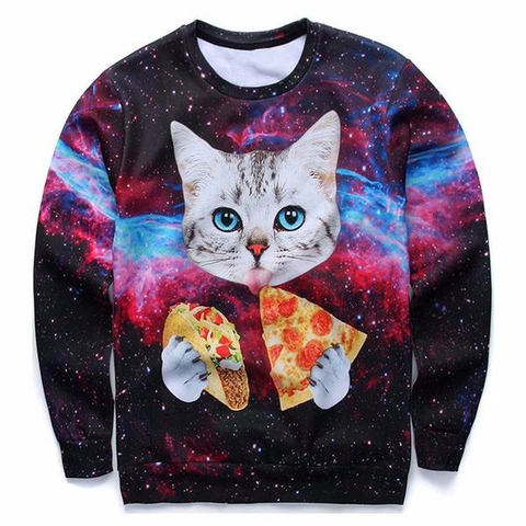 Pizza Cat Sweatshirt