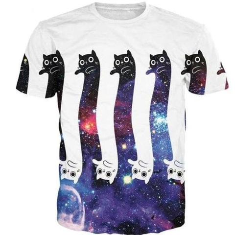 Long Galaxy Cat Shirt
