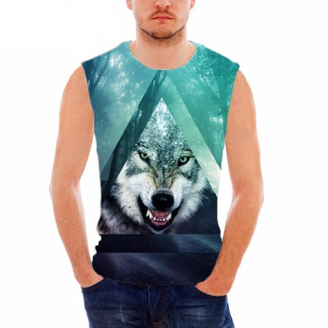 Angry Wolf Tank Top