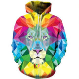 Lion Color Blocks Hoodie