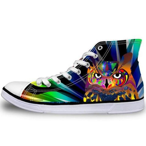 Colorful Owl Shoes