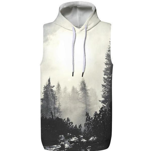 Early Morning Hooded Tank Top
