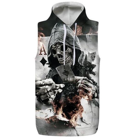 Poker Hooded Tank Top