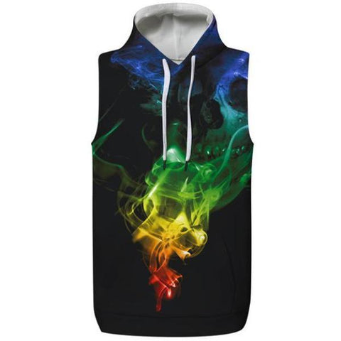 Cosmic Color Hooded Tank Top