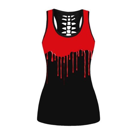 Red & Black Tank Top