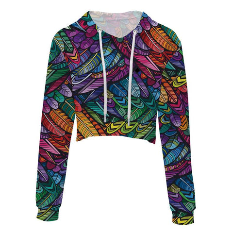 Colorful Cropped Hoodie