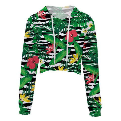 Jungle Cropped Hoodie