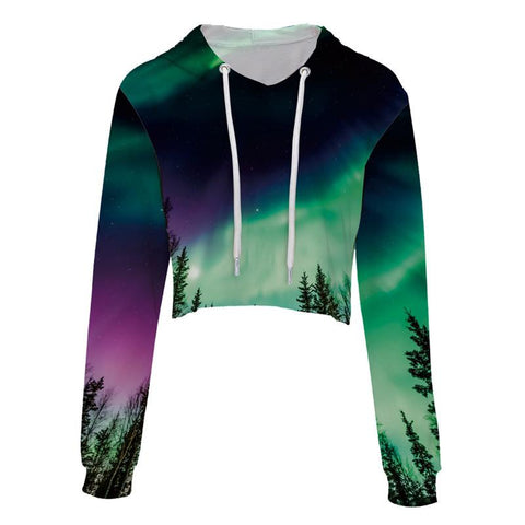 Northern Lights Cropped Hoodie