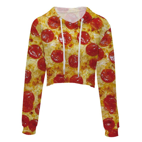 Pizza Cropped Hoodie
