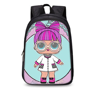 2019 LOL Surprise 3D Girls Backpack School Bag for Kids