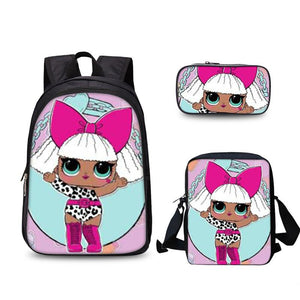 LOL Surprise 2019 Doll Backpack Lunch Bag And Pencil Case Bundle 3 In 1