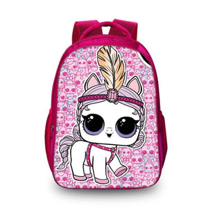 LOL Surprise Pink Backpack Girls Bag New Version for School