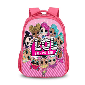 LOL Surprise 2019 Cute Pink Backpack for Kids