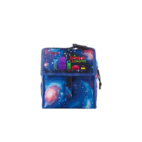 2019 A Storybots Christmas Series Galaxy Freezable Lunch Bag with Zip Closure