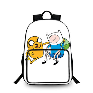 2019 Adventure Time with Finn and Jake Anime Kids 18 Inch Large Oxford Backpack for School
