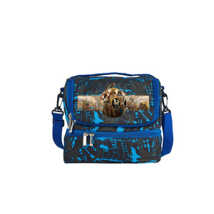 2019 Age of Empires II Definitive Edition Kids School Two Compartment Blue Graffiti Lunch Bag