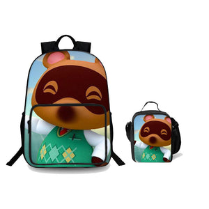 2019 Animal Crossing New Horizons Theme 18 Inch Backpack For Boys And Lunch Bag 2 In 1