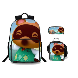 2019 Animal Crossing New Horizons Theme 3D Backpack Lunch Bag And Pencil Case Bundle 3 In 1