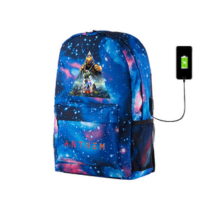 2019 Anthem Theme Galaxy School Backpack With USB Charging Port 17 Inch