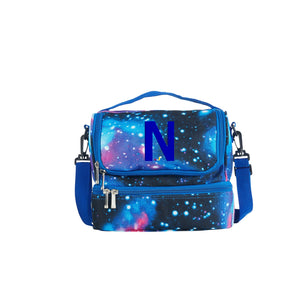 2019 Ask The Storybots Series Two Compartment Galaxy Lunch Bag