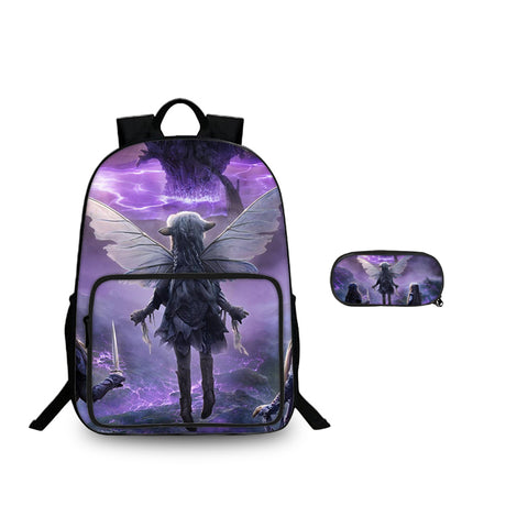 2019 Backtoschool Dark Crystal Age of Resistance Tactics Kids Backpack And Pencil Case 2 in 1