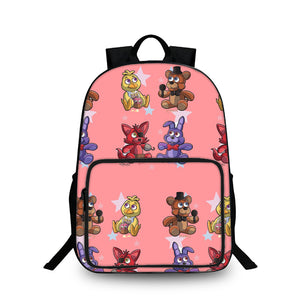 2019 Backtoschool Five Friday Nights At Freddy's 18 Inch Pink Oxford Backpack for Girls