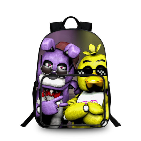 2019  Bonnie And Chica Five Nights at Freddy's Boys Girls Lightweight Oxford Backpack for School 18 Inch