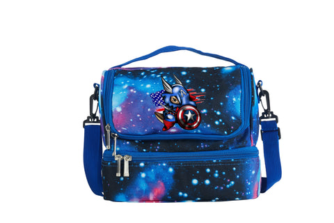 2019 Captain America Cosplay Two Compartment Galaxy Lunch Bag