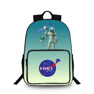 2019 Fortnite Leviathan Stylish Gradient Blue Oxford Backpack 18 Inch Unisex Travel Bag