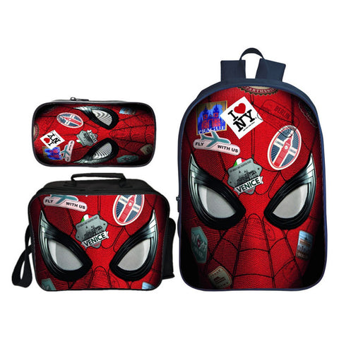 2019 New Movie Spider Man Far From Home 16 Inch Backpack for School Lunch Bag And Pencil Case Bundle 3 in 1