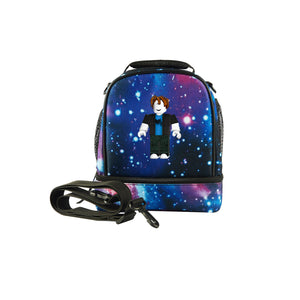 2019 Roblox Avatar Logo Boys Two Compartment Galaxy Lunch Bag