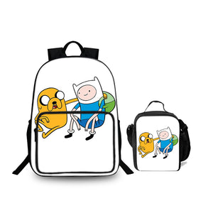2019 Adventure Time With Finn And Jake Series Large Backpack 18 Inch And Lunch Bag 2 In 1