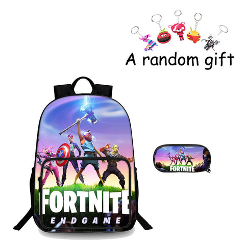 Back To School Fortnite End Game 3D Backpack And Pencil Case 2 in 1