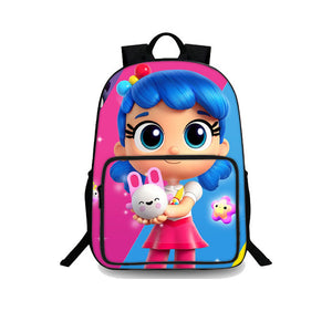Backtoschool True and the Rainbow Kingdom Anime Girls Durable Blue And Pink Backpack 18 Inch for Kids