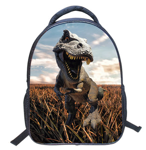 Dinosaur Theme Print Backpack for School 14 Inch